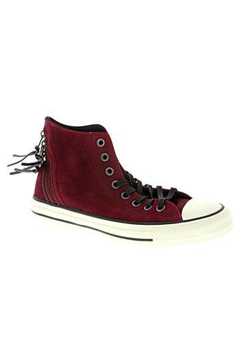 converse chaussures unisexe de couleur rouge