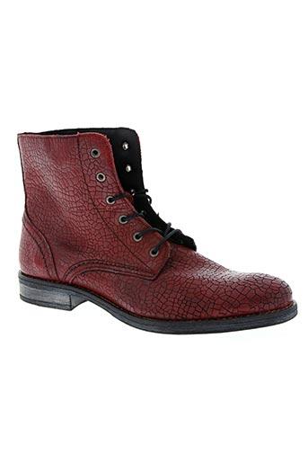 ippon vintage chaussures homme de couleur rouge
