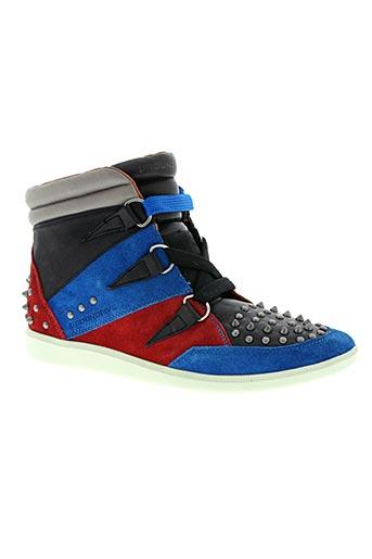 groundfive chaussures homme de couleur bleu