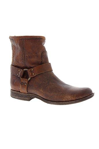 frye chaussures homme de couleur marron