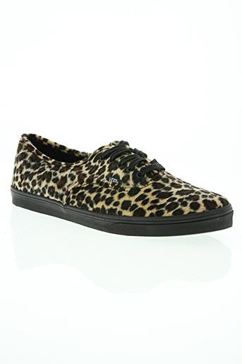 vans chaussures femme de couleur marron