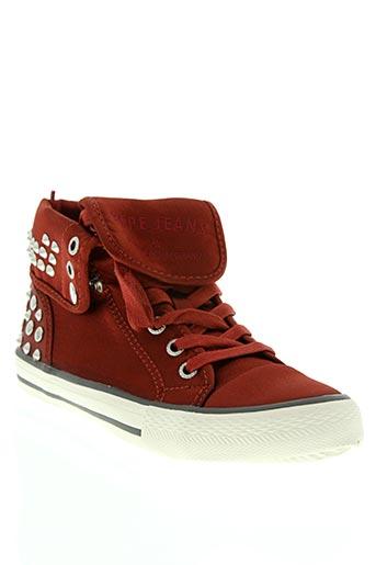 pepe jeans chaussures femme de couleur rouge