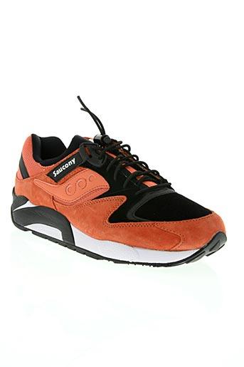 saucony chaussures homme de couleur orange