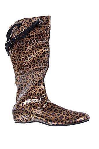 fessura chaussures femme de couleur marron