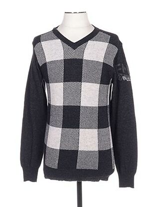 Pull col V gris ENERGIE pour homme