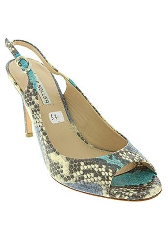 the seller chaussures femme de couleur bleu