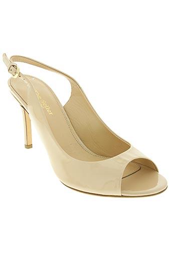 the seller chaussures femme de couleur beige