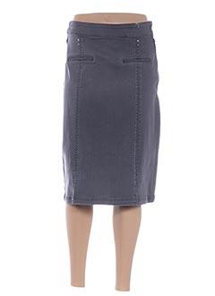 Jupe mi-longue gris DIANE LAURY pour femme