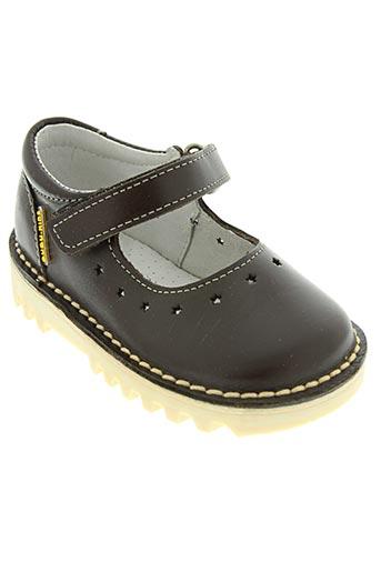 gugu tata chaussures fille de couleur marron
