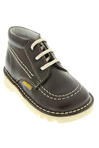 gugu tata chaussures garçon de couleur marron