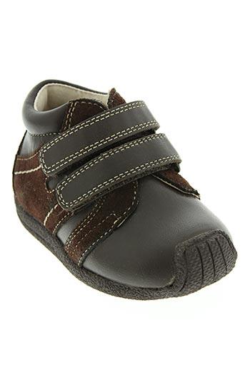 d'bebe chaussures garçon de couleur marron