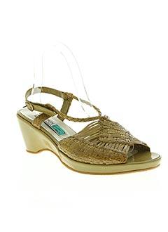 Sandales/Nu pieds vert ARNOUX pour femme