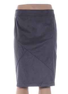 Jupe mi-longue gris ADIA pour femme