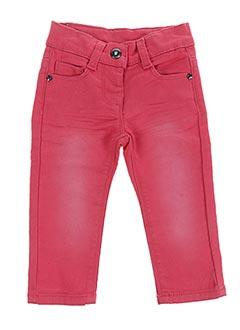 Jeans coupe droite rouge 3 POMMES pour fille