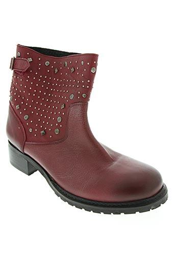 paradoxale chaussures femme de couleur rouge