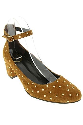 polin et moi chaussures femme de couleur marron