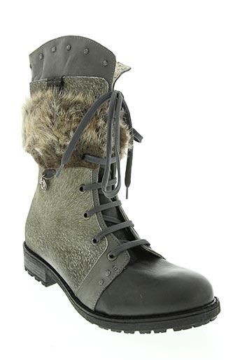 Bottines/Boots gris ELIANE ET LENA pour femme