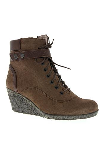 tbs chaussures femme de couleur marron