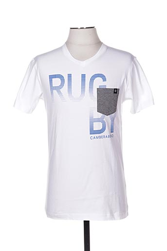 T-shirt manches courtes blanc CAMBE pour homme