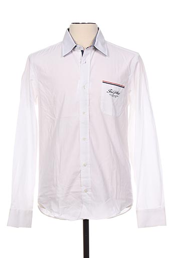 Chemise manches longues blanc CAMBE pour homme