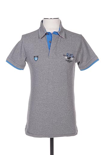 Polo manches courtes gris CAMBE pour homme