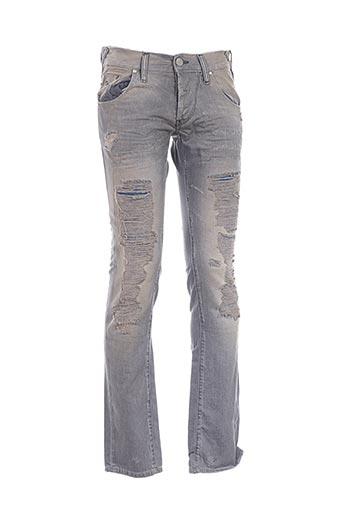 Jeans coupe slim gris ENERGIE pour homme