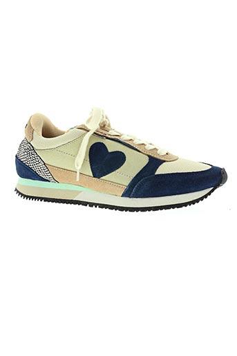 dolfie chaussures femme de couleur bleu