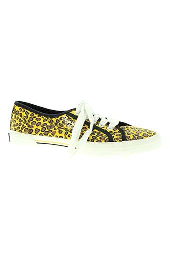pepe jeans chaussures femme de couleur jaune