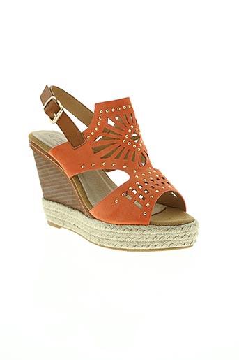 j&l chaussures femme de couleur orange