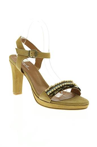 reqins chaussures femme de couleur jaune