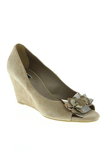 vic chaussures femme de couleur beige