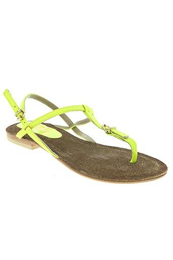 hop's... chaussures femme de couleur jaune