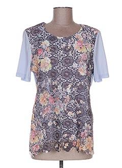 T-shirt manches courtes bleu ELISABETH pour femme