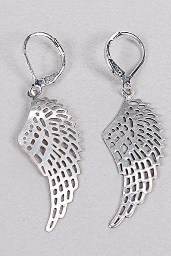 Boucles d'oreilles gris SATINE pour femme