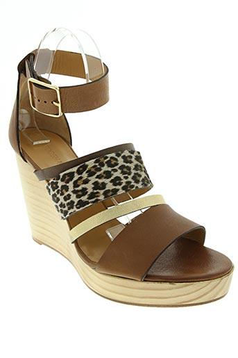 tatoosh chaussures femme de couleur marron