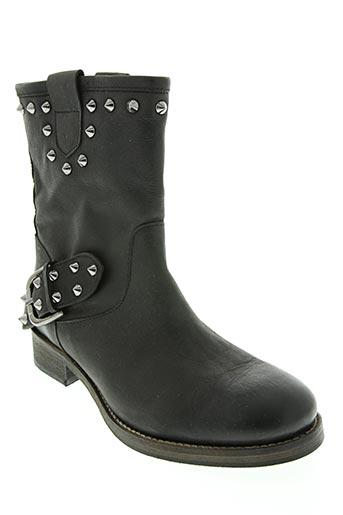 bisous confiture chaussures femme de couleur noir