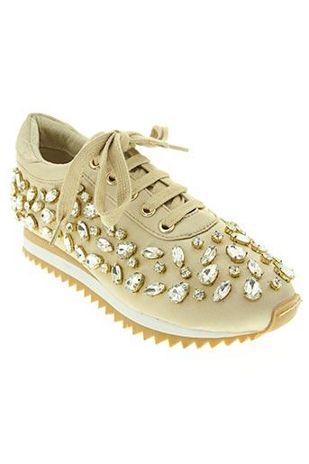 sara lopez chaussures femme de couleur beige