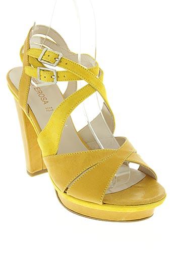 peperosa chaussures femme de couleur jaune