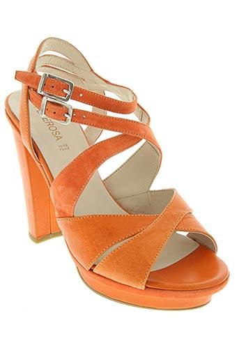 peperosa chaussures femme de couleur orange