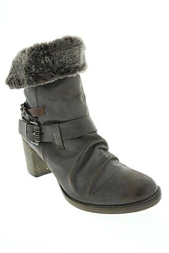 Bottines/Boots gris BILLIE JEAN pour femme