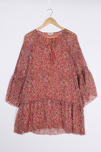 Robe courte rose AMENAPIH pour femme