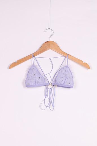 Soutien-gorge violet FOR LOVE & LEMONS pour femme