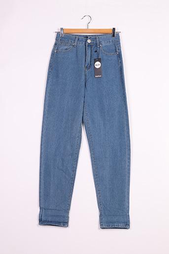 Jeans boyfriend bleu BOOHOO pour femme