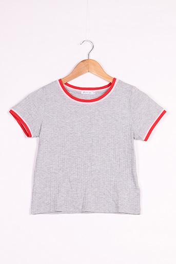 T-shirt manches courtes gris GEMO pour femme