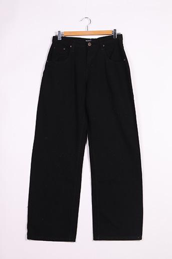 Jeans coupe large noir PRETTY LITTLE THING pour femme