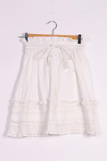 Jupe courte blanc BIK BOK pour femme