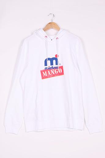 Sweat-shirt blanc MANGO pour homme