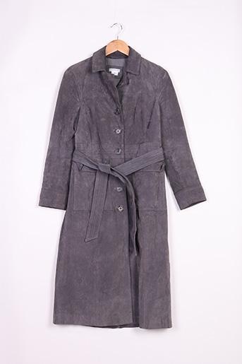 Manteau court gris COOPERATIVE pour femme