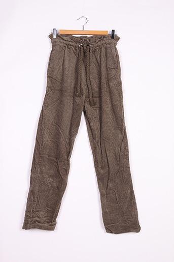 Pantalon casual vert ANTIK BATIK pour femme