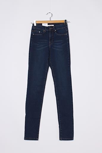 Jeans coupe slim bleu CAMAIEU pour femme